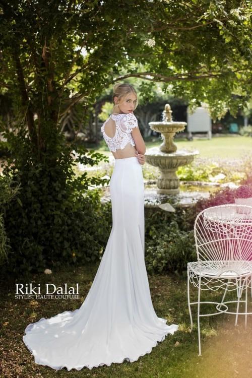 кружевное свадебное платье Riki Dalal фото 10