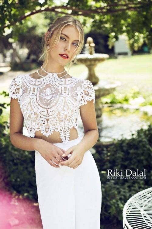 кружевное свадебное платье Riki Dalal фото 12