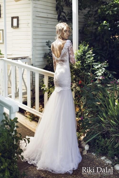 кружевное свадебное платье Riki Dalal фото 16