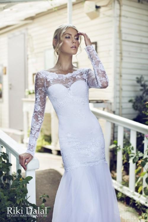 кружевное свадебное платье Riki Dalal фото 15