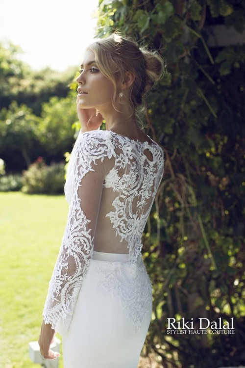 кружевное свадебное платье Riki Dalal фото 8