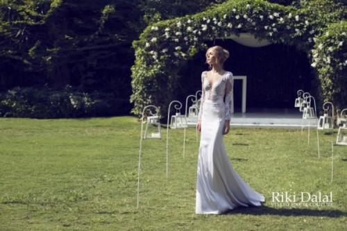 кружевное свадебное платье Riki Dalal фото 7
