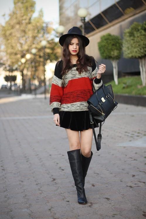 черная женская модная шляпа