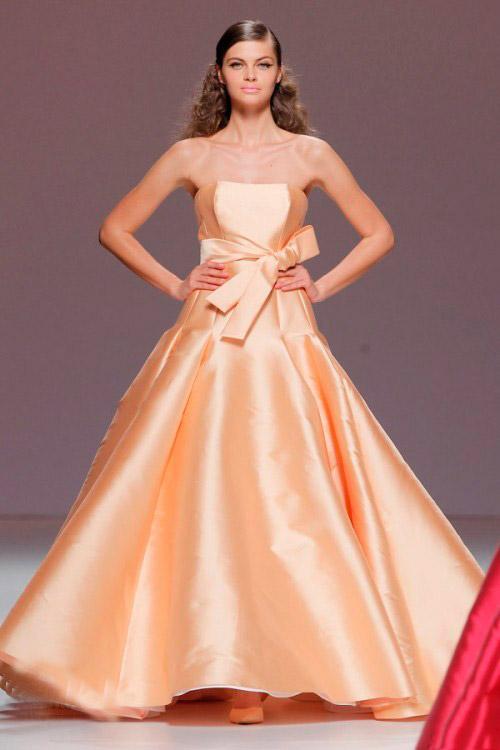 Pastel Orange Cymbeline Wedding Dress