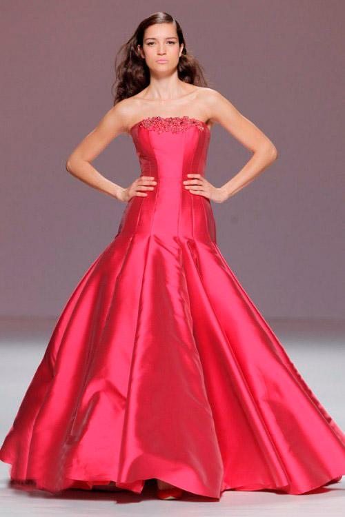 алое свадебное платье Cymbeline