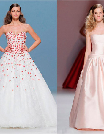 Цветные свадебные платья от Cymbeline