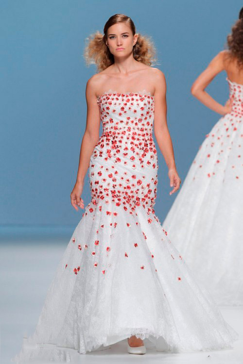 цветное свадебное платье Cymbeline