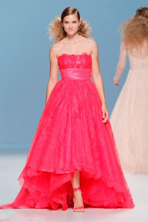 ярко розовое свадебное платье Cymbeline
