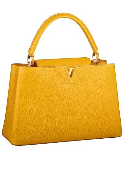 желтая сумка  от Louis Vuitton