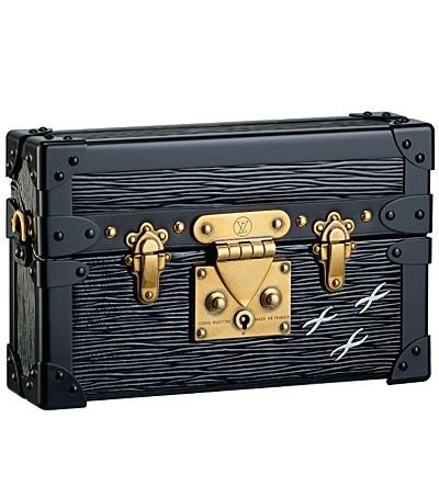 черная сумка-сундучок  от Louis Vuitton