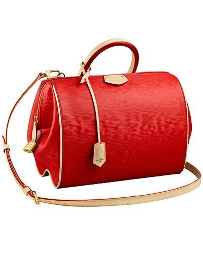 красная с бежевым сумка  от Louis Vuitton