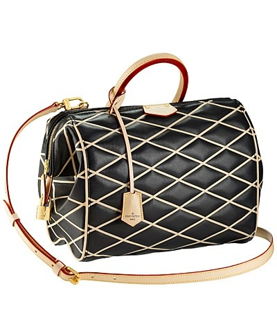 черная с бежевым сумка  от Louis Vuitton