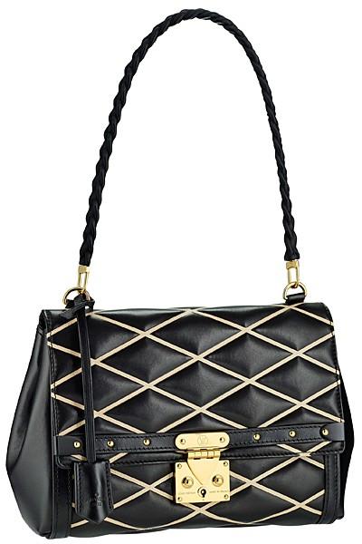 черная с белыми полосками сумка  от Louis Vuitton