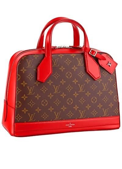 коричневая с красным сумка  от Louis Vuitton