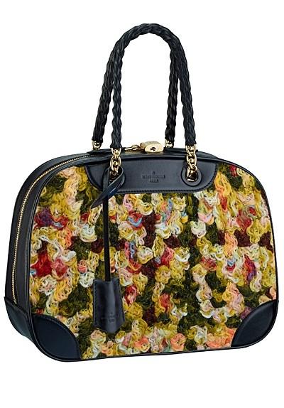 сумка  от Louis Vuitton о вставками из яркого текстиля