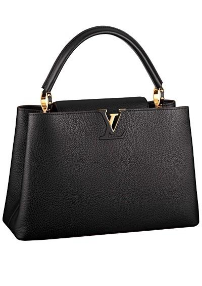 черная сумка  от Louis Vuitton с короткими ручками