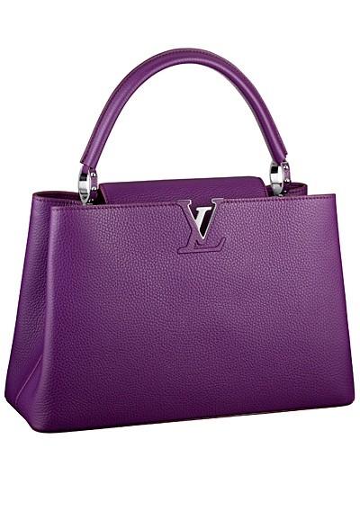 фиолетовая сумка  от Louis Vuitton с короткой ручкой