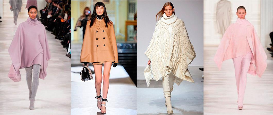 Вязаные пальто, пончо, женские накидки: коллекции осени