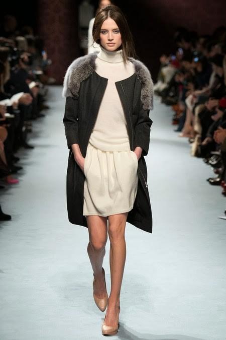 трикотажное пальто с мехом