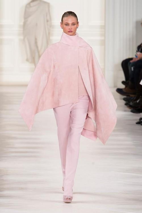 розовое короткое пончо