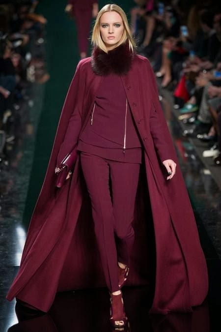бордовое пальто - накидка
