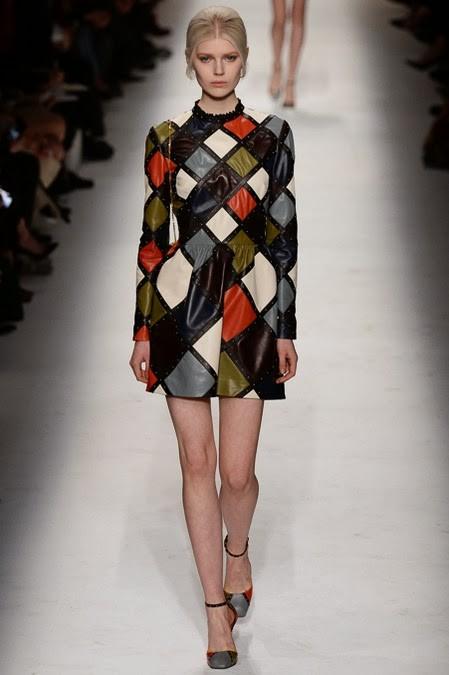 платье в цветные ромбы: стиль 60-х в одежде