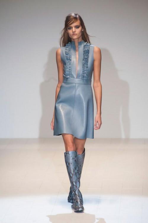 сине-серое платье: ретро стиль в одежде