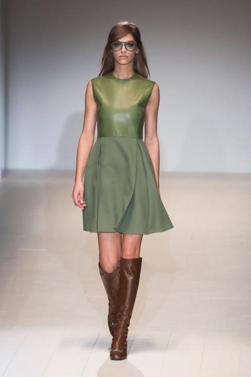 стиль 60-х в одежде: зеленое платье