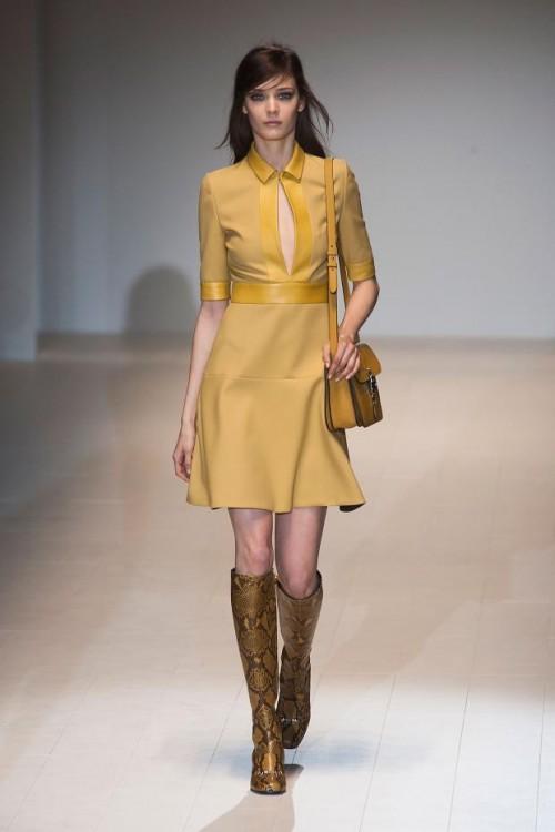 стиль 60-х в одежде: желтое платье