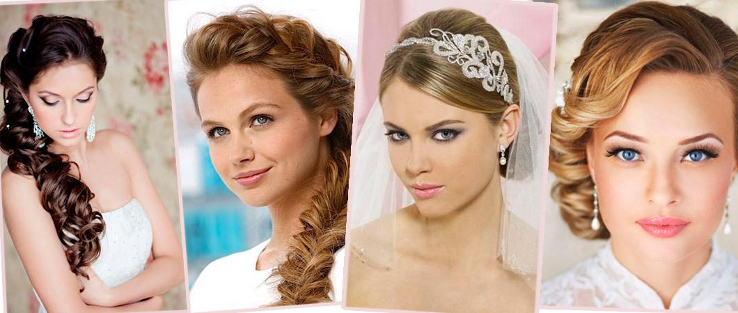Свадебные прически с косами, цветами и диадемой