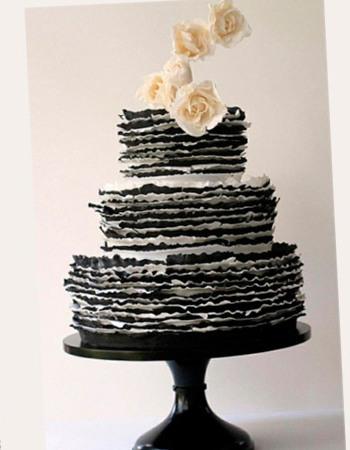 Свадебные торты в черном шоколаде