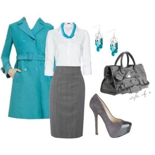 осенняя одежда и аксессуары для офиса