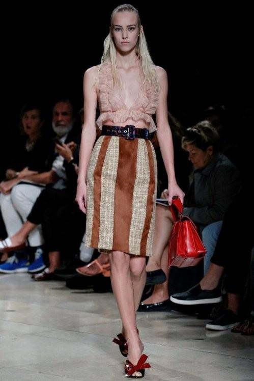 пастельный топ и юбка Miu Miu весна лето  2017