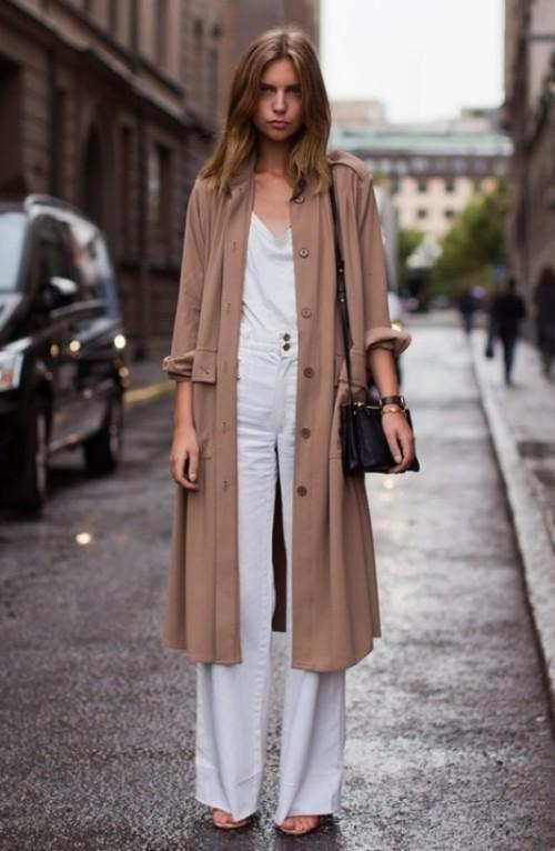 трикотажное осеннее пальто
