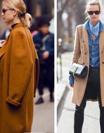 Осенние пальто карамельного оттенка