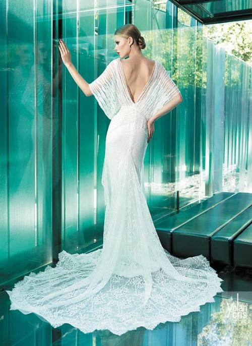 винтажное полупрозрачное свадебное платье