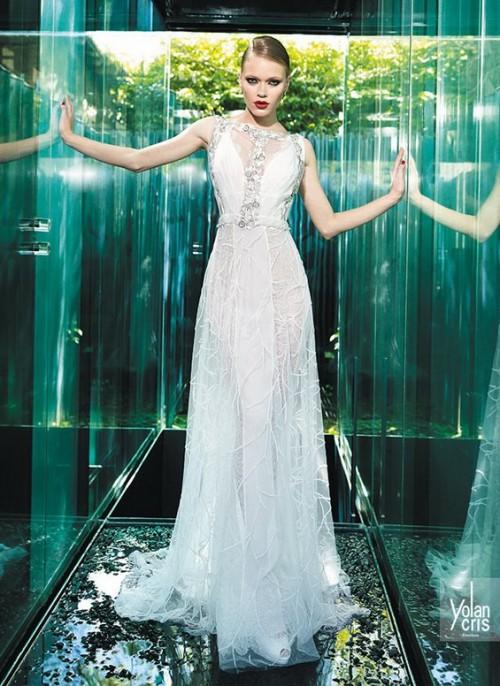 струящееся винтажное свадебное платье