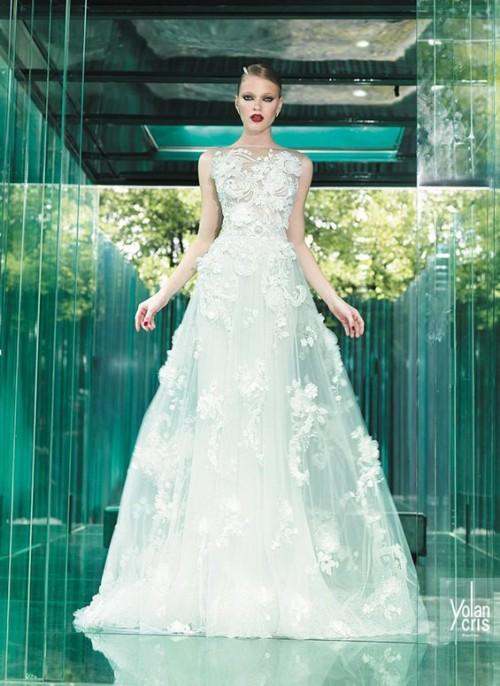 винтажное свадебное платье с цветочками