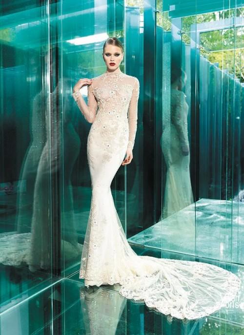 обтягивающее винтажное свадебное платье