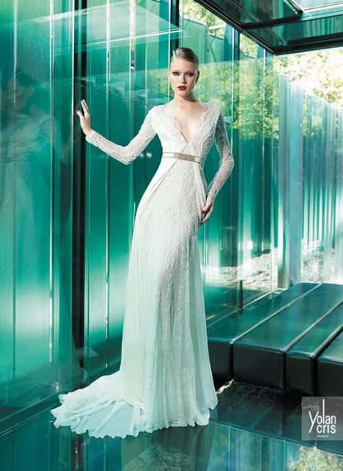 винтажное свадебное платье с золотым поясом