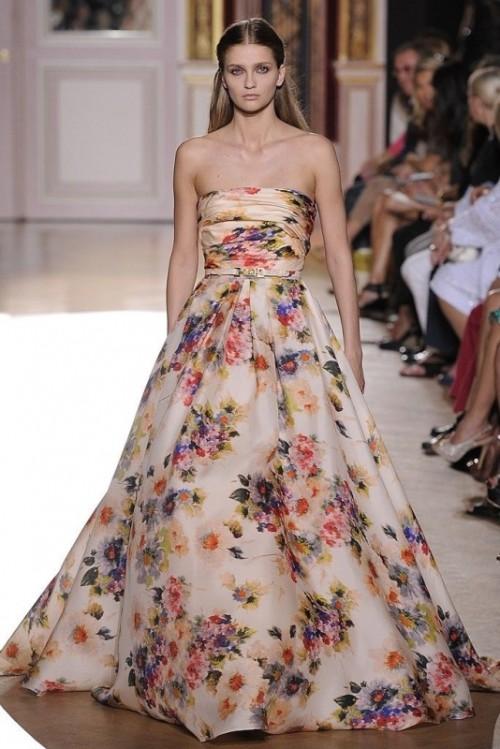 Свадебное платье в цветочный принт