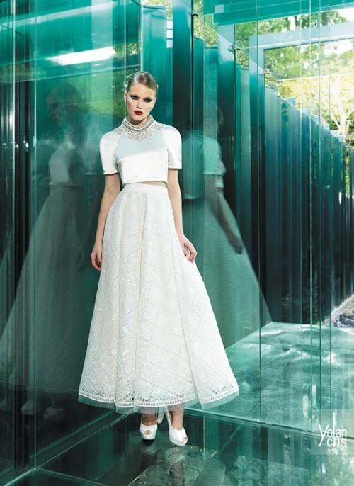 винтажное свадебное платье с коротким рукавом