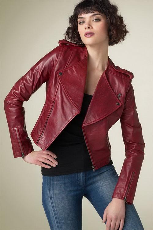 Женские кожаные куртки на весну 2017