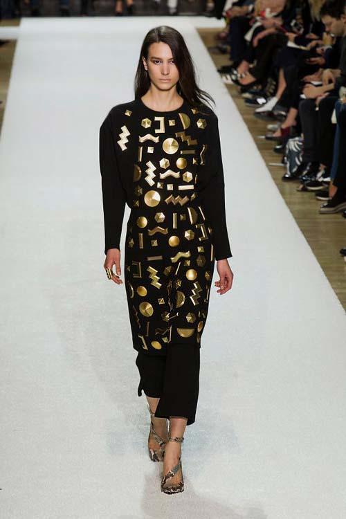 золото в осенне зимней моде