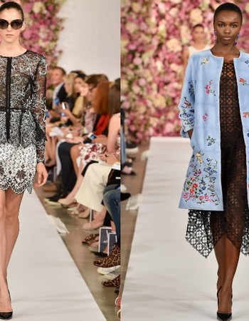 Интересная одежда от Оскара де ла Рента для весны и лета 2018