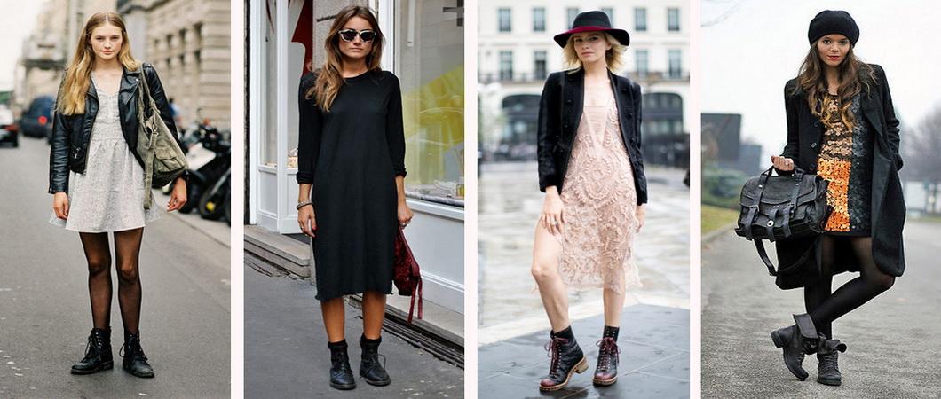 С чем носить женские ботинки разных моделей