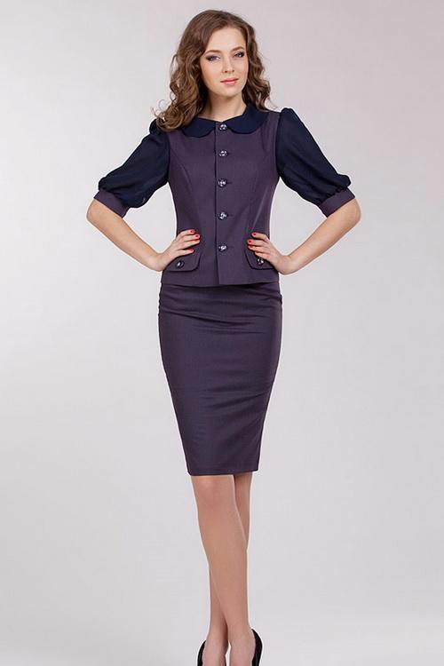 Модели женских костюмов с юбкой