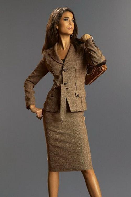 Модные летние женские костюмы с юбкой