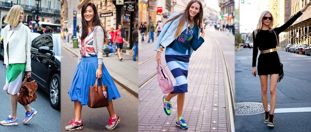 Какие кроссовки носят с платьями?