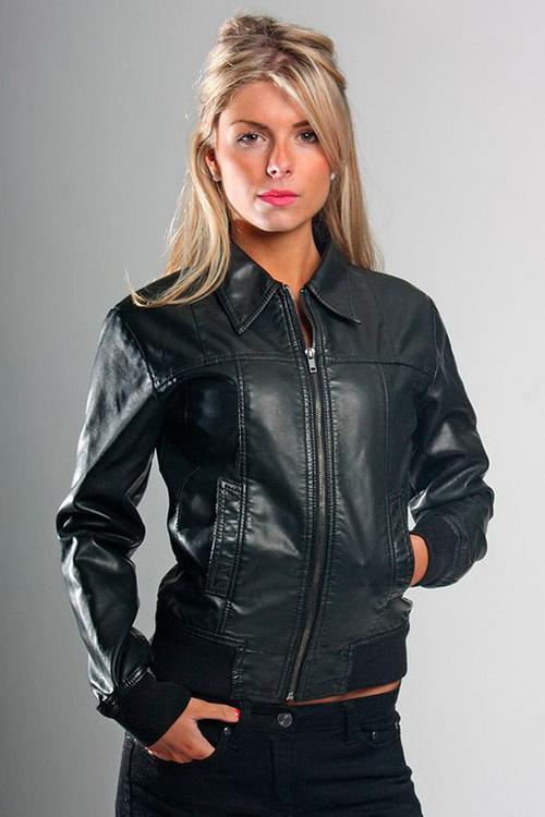 Модные кожаные женские куртки весна 2017 женские
